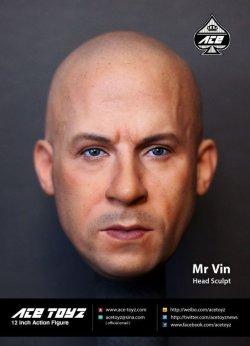 """画像1: ACE Toyz 1/6 """"Mr.Vin"""" ヴィン・ディーゼル似ヘッド"""