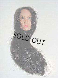 画像1: Female ヘッド long hair(black) 002