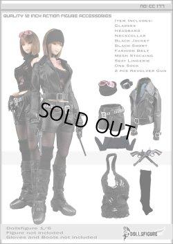 画像1: Dollsfigure 1/6 女性バイカー衣装&アクセサリーセット cc177