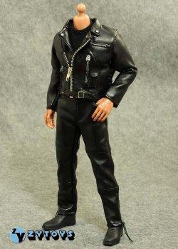 画像1: ZY TOYS  男性ブラックレザー・コスチュームセット  T800 ターミネーター (お取り寄せ)