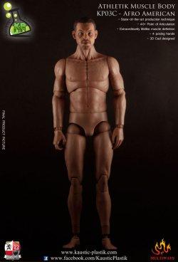 画像1: Kaustik Plastic  黒人男性素体(ヘッド付き) Athletik Muscle Body KP03C - Afro American Version 1/6  *お取り寄せ