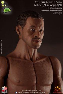 画像3: Kaustik Plastic  黒人男性素体(ヘッド付き) Athletik Muscle Body KP03C - Afro American Version 1/6  *お取り寄せ