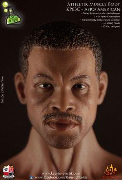 画像2: Kaustik Plastic  黒人男性素体(ヘッド付き) Athletik Muscle Body KP03C - Afro American Version 1/6  *お取り寄せ
