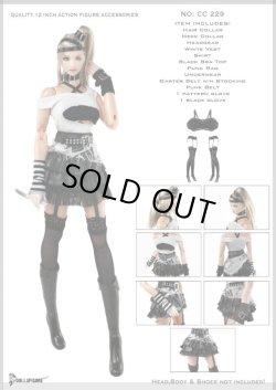 画像1: Dollsfigure  1/6 女性セクシーパンク衣装&アクセサリーセット  cc229 *お取り寄せ