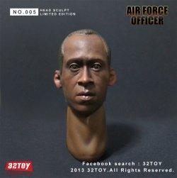 画像2: 32TOY Air Force Officer ドン・チードル似ヘッド 1/6  *お取り寄せ