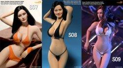 画像5: Phicen シームレス女性素体 Super-Flexible Stainless Steel Skeleton  PLMB2014-S09(ビッグバスト/サンタン) 1/6  *お取り寄せ