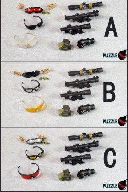 画像5: Puzzle Bomb 1/6 現用戦 ゴーグル、サングラス&スコープセット C *お取り寄せ