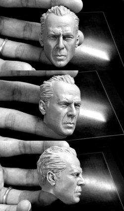 """画像2: カスタム """"Mcclane""""- unpainted Head Sculpt  1/6  *お取り寄せ"""