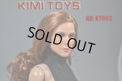 画像3: KIMI TOYS 1/6 白人女性ヘッド ブラウンヘア KT003 *お取り寄せ