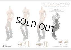 画像2: Dollsfigure  1/6 女性ブラックブーツ&足首延長コネクタ(2組)セット cc259 *お取り寄せ