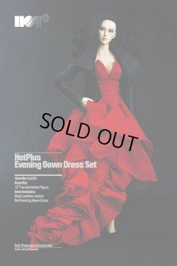 画像1: HotPlus  1/6 女性コスチューム ブラック レザージャケット&レッド イブニングドレス セット *予約
