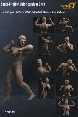 画像3: Phicen 1/6 シームレス男性素体 Super-Flexible Stainless Steel Skeleton PL2015-M30 *お取り寄せ