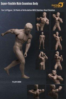 画像4: Phicen 1/6 シームレス男性素体 Super-Flexible Stainless Steel Skeleton PL2015-M30 *お取り寄せ
