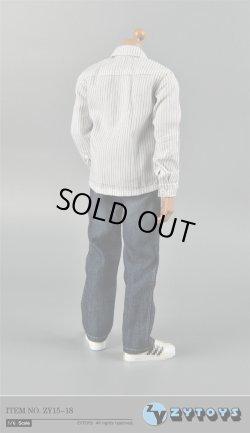 画像4: ZYTOYS 1/6 男性ストライプシャツ&ジーンズ セット *お取り寄せ
