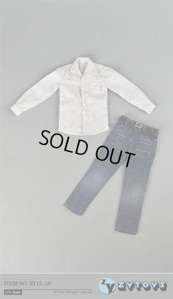 画像2: ZYTOYS 1/6 男性ストライプシャツ&ジーンズ セット *お取り寄せ