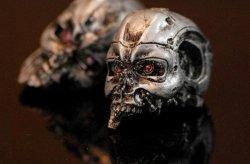 画像1: T- Skull / 1/6 カスタム T-800 バトルダメージ クラッシュ ヘッド *お取り寄せ