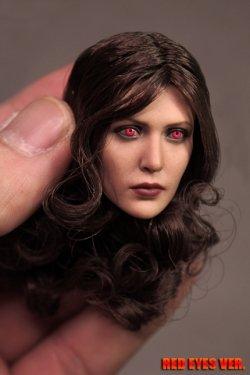 画像3: Custom 1/6 RW 女性ヘッド ブラウンロングカーリーヘア R-eye SW *お取り寄せ