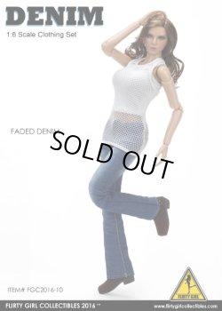 画像2: Flirty Girl 1/6 Denim Fashion Clothing セット (FADED DENIM ) (FGC2016-10)