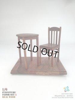 画像1: TITTOYS 1/6 木製家具&床セットA (リアルウッド) SF022 *予約