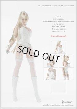 画像1: Dollsfigure  1/6 セクシーキャミソールセット(ホワイト) Sexy Camisole Set cc222 *お取り押せ