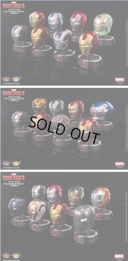 画像1: KingArts 1/5 アイアンマン3 LED ヘルメット シリーズ 各8種セット *予約