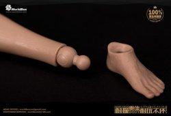 """画像4: WORLD BOX 1/6 リアルマッスル男性素体 """"シックチェスト&ブロードショルダー"""" ボディ AT012 *お取り寄せ"""