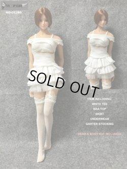 画像1: Dollsfigure  1/6 女性セクシーホワイトドレスセット cc280 *お取り寄せ