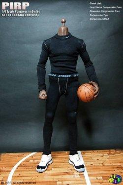 画像3: PIRP 1/6 メンズ スポーツ コンプレッション アンダーウェア (NBA/高身長サイズ用) *お取り寄せ