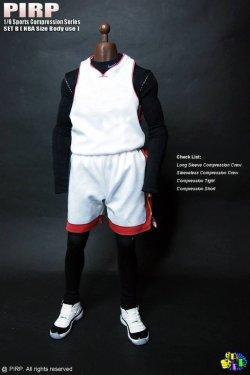 画像4: PIRP 1/6 メンズ スポーツ コンプレッション アンダーウェア (NBA/高身長サイズ用) *お取り寄せ