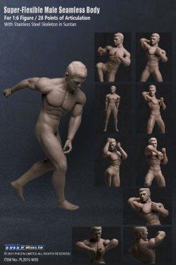 画像1: Phicen 1/6 シームレス男性素体 Super-Flexible Stainless Steel Skeleton PL2015-M30 *お取り寄せ