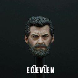 画像1: ELEVEN 1/6 X-Logan Hugh old-male ジャックマン ヘッド