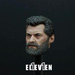 画像2: ELEVEN 1/6 X-Logan Hugh old-male ジャックマン ヘッド