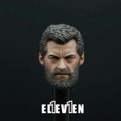 画像4: ELEVEN 1/6 X-Logan Hugh old-male ジャックマン ヘッド