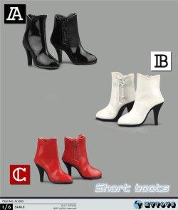 画像1: ZYTOYS 1/6 女性 サイドジッパー ショートブーツ ZY1005 *お取り寄せ