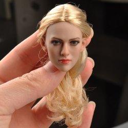 画像1: KIMI TOYS 1/6 白人女性ヘッド ブロンドヘア KT004 *お取り寄せ