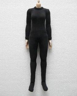画像1: ブラック タイト レオタード 女性フィギュア用 1/6  *お取り寄せ