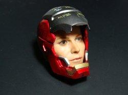 画像3: Custom  1/6  アイアンマン  テスト  マスク  フェイスプレート *お取り寄せ