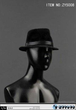 画像2: ZYTOYS 1/6 男性用帽子 ブラック ハット *お取り寄せ