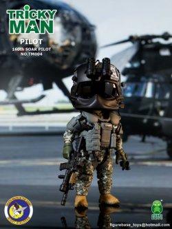 """画像1: FigureBase Toys 5インチ TRICKYMAN - SEAL TEAM 6 第160特殊作戦航空連隊 """"ナイトストーカーズ"""" パイロット TM004 フィギュア *お取り寄せ"""