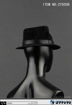 画像3: ZYTOYS 1/6 男性用帽子 ブラック ハット *お取り寄せ