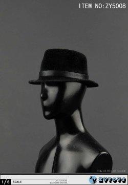 画像4: ZYTOYS 1/6 男性用帽子 ブラック ハット *お取り寄せ