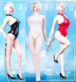 画像1: Manmodel 1/6 女性 ロボット スイムスーツ セット MM06 ヨルハ2B 水着 TBLeague *お取り寄せ