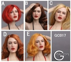 画像1: GACTOYS 1/6 GC017 欧米女性 表情 ヘッド 5種 *お取り寄せ