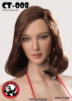 画像3: CATTOYS 1/6 アジア女性ヘッド 全4種 CT008 *お取り寄せ