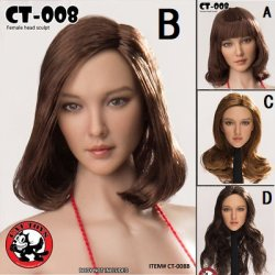 画像1: CATTOYS 1/6 アジア女性ヘッド 全4種 CT008 *お取り寄せ