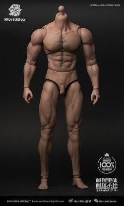 画像1: World Box 1/6 デュラブル 男性素体 リップド ボディ Durable body - Ripped ヘッドなし AT027  *予約