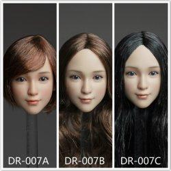 画像1: Dreamer 1/6 女性ヘッド 3種 DR-007  *お取り寄せ