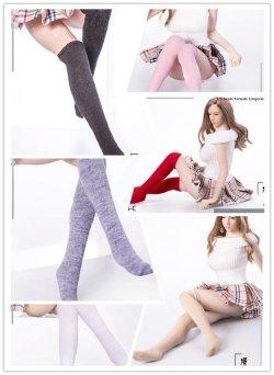 画像1: Manmodel 1/6 やわらかコットン ロング 靴下 ソックス ストッキング 女性用 6種 MM08 TBLeague *お取り寄せ