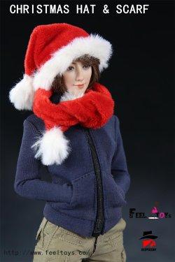 画像2: Feeltoys 1/6 サンタ帽子 & マフラー セット クリスマス FT X'mas