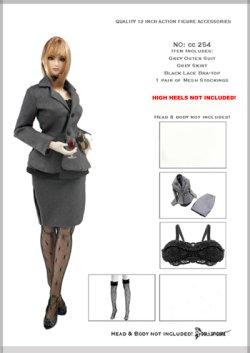 画像1: Dollsfigure  1/6 女性セクレタリー スーツ フルセット cc254 *お取り寄せ